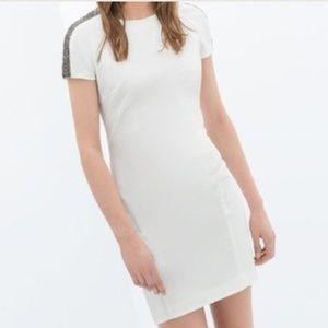 Zara White Beaded Dress